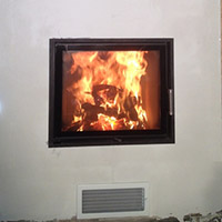 Теплоемкая система Lila tec+Hoxter 63-51+ дымоход Bofil+разводка теплого воздуха