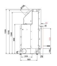 Brunner KK 57/67 с прямым стеклом,вертикальным открытием дверец
