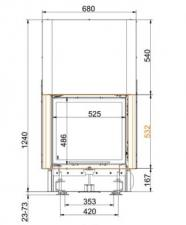 Brunner KK 51/55 панорама,с вертикальным открытием дверец