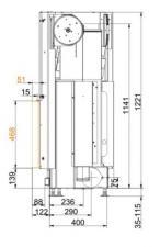 Brunner 45/101/40 Architektur-Eck-Kamine,лева/права