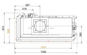 Brunner 53/121/50 Architektur-Eck-Kamine,лева/права