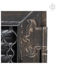 Kratki решетка графит ретро с двумя дверками открывающаяся 17*17
