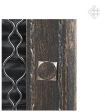 Kratki решетка графит ретро с одной дверкой открывающаяся 17*17