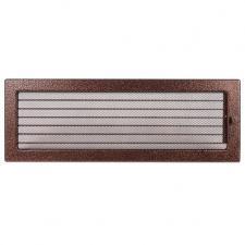 Kratki Решетка вентиляционная Состаренная медь 17*49 с жалюзи