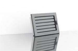 ventlab решетка 45*24 черная матовая с жалюзи