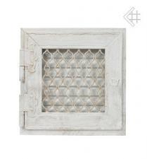 Kratki решетка белая ретро с одной дверкой открывающаяся 17*17