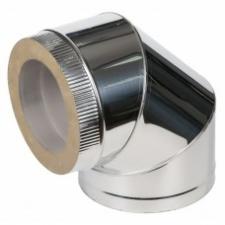Отвод двустенный 90* 1мм 430нерж/нерж