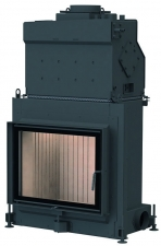 Stil-Kamin 51/67 side-opening door, single glazing, with top-mount boiler