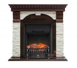 Dublin [Дублин] арочный сланец белый темный дуб с очагами Fobos FX / Majestic FX - камин Royal Flame