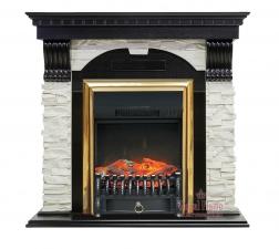 Dublin [Дублин] арочный сланец белый венге с очагами Fobos FX / Majestic FX - электрокамин Royal Flame