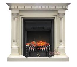 Dallas [Даллас] слоновая кость с патиной с очагами Fobos FX / Majestic FX - камин Royal Flame