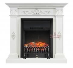 Derby [Дерби] белый дуб с очагами Fobos FX / Majestic FX - камин Royal Flame