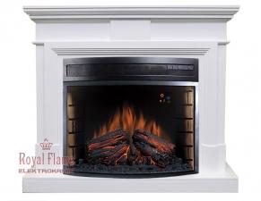 Coventry [Ковентри] белый с очагом Jupiter FX New - электрокамин Royal Flame