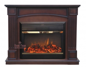 Boston [Бостон] махагон коричневый антик с очагом Dioramic 28 FX - комплект Royal Flame