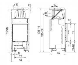 45x51 K 2.0 распашная дверца, плоское стекло